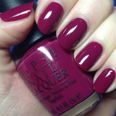 OPI Miami Beet – Isn't this a lovely nail polish color for transitioning out of spring and into summer for the toes? OPI Miami Beet – Isn't this a lovely nail polish color for transitioning out of spring and into summer for the toes? Cute Nails, Pretty Nails, Nagellack Design, Nagel Hacks, Opi Nails, Plum Nails, Shellac, Dark Pink Nails, Dark Purple