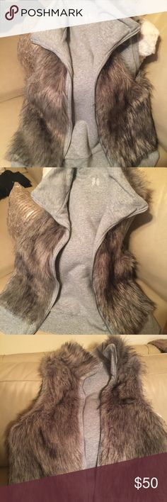 💥SALE💥Victoria Secret Faux fur reversible vest Cute faux fur reversible Victoria Secret vest. Goes great with jeans and heels. Victoria's Secret Jackets & Coats Vests