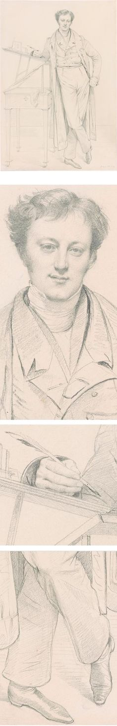 Portrait of Adolphe-Marcellin Defresne, Jean-Auguste-Dominique Ingres, graphite…