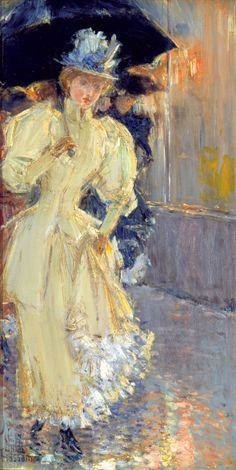 A Rainy Day, Childe Hassam
