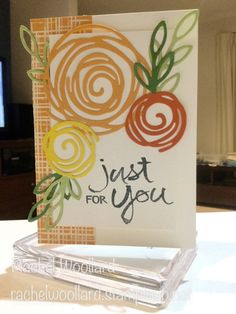 Swirly Peach Roses by Rach W - Cards and Paper Crafts at Splitcoaststampers
