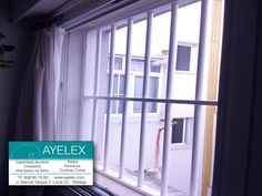 Rejas quita-miedo en aluminio Blanco, instaladas en dormitorio infantil. Paseo Marítimo (Málaga) www.ayelex.com