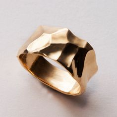 Butter No.2 - 14K Gold Band by Doron Merav. #wedding #ring #gold