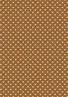 Heart Backing Paper Brown on Craftsuprint designed by Wendy Colledge - A4 background paper. Suitable for a number of occasions. - Now available for download!