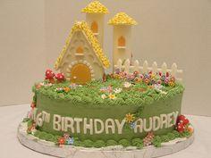 English Garden Birthday Cake by cakebyira, via Flickr