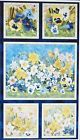 "Walking in Sunshine~Panel 24"" x 44""~Cotton Fabric by Wilmington Prints"