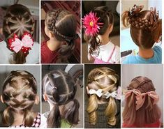 so many different hair styles for little girls!