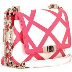 Roger Vivier Prismick Mini Leather Shoulder Bag (30.740.300 IDR) ❤ liked on  Polyvore featuring bags 38657917804a7