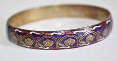 Vintage Bangle Bracelet Guilloche Russian Enamel 1950s by patwatty, $45.00