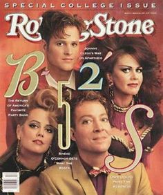 The B-52's, March 1990 cover of Rolling Stone magazine