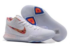 """cheap for discount 82f44 4376b Find Quality Nike Kyrie 3 """"EYBL"""" Pure Platinum Multi-Color-Black Best New  Release ..."""