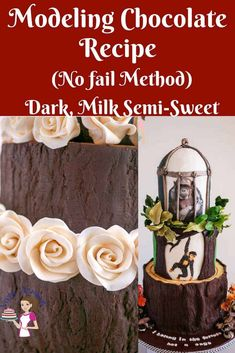 Chocolate Clay Recipe, Chocolate Roses, Chocolate Art, How To Make Chocolate, Candy Clay Recipe, Modeling Chocolate Figures, Modeling Chocolate Recipes, Chocolate Candy Recipes, Chocolate Garnishes