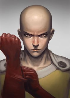 One-Punch Man - Saitama by crowbbit Manga Anime, Anime One, Me Me Me Anime, Saitama One Punch Man, Manhwa, One Punch Man Manga, Human Drawing, Boruto Naruto Next Generations, Spiderman Art