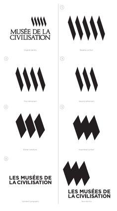 MCQ brand identity design Contributed by Mara Gourd-Mercado of Québec-based Brand Identity Design, Branding Design, Identity Branding, Corporate Design, Corporate Identity, Brochure Design, Visual Identity, Museum Identity, Museum Branding