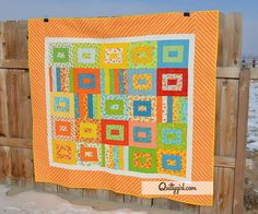 Butterfly Love Handmade Quilt  Bright and Fun by AlyciaQuiltyGirl