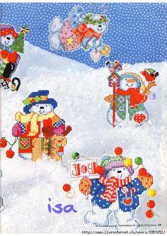 Коллекция новогодних вышивок из мэйла.