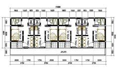 desain rumah kontrakan 2 lantai - Penelusuran Google