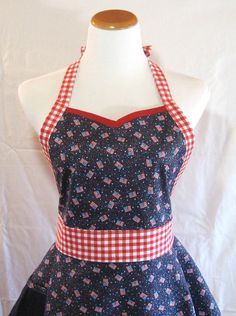 Patriotic Apron Womens Sweetheart 4th of by MelodySpringsStore