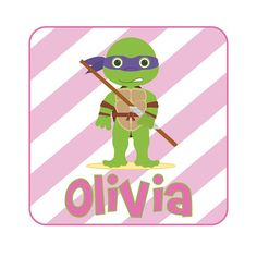GOT A TEENAGE MUTANT NINJA FAN? GET A CUSTOMIZED SHIRT FOR YOUR LITTLE GIRL OR BOY THIS CHRISTMAS! Personalized Ninja Turtle Design by LittleYellowHippo on Etsy, $16.00