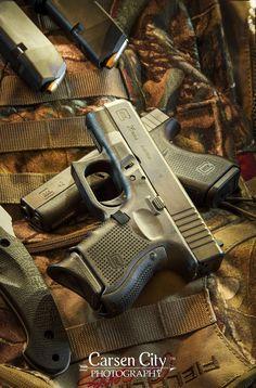 Light Painted Glock 26 Gen4