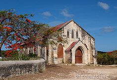 Gilbert Memorial Methodist Church in Antigua Barbuda in the Caribbean Lesser Antilles West Indies, Stock Photo Image, historic, old,