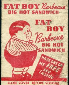 A matchbook advertisement.  When we were not so politically correct.