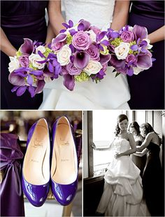 Don't overcomplicate the theme for your wedding – chose one rich color and create your whole day around it, as you can see here with fabulous purple.