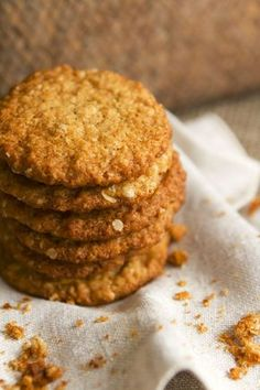 Healthy Cookies, Healthy Desserts, Easy Desserts, Dessert Simple, Cookie Recipes, Dessert Recipes, Desserts Sains, Best Party Food, Food Inspiration
