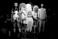 London Fashion Week: Pam Hogg pays tribute to Pussy Riot, as models don more of her weird and wonderful designs. http://www.theweek.co.uk/pictures/57351/london-fashion-week-2014-pictures/page/4/0#ixzz2taoDx000