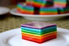 This simple Rainbow Jello recipe is always a huge hit.