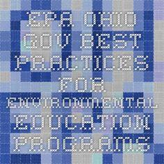 epa.ohio.gov Best Practices for Environmental Education Programs