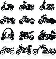 Motorcycle Vector Silhouette Ideas For 2019 Motorcycle Icon, Motorcycle Workshop, Motorcycle Tattoos, Motorcycle Design, Women Motorcycle, Motorbike Drawing, Small Motorcycles, Silhouette Images, Stencil Patterns