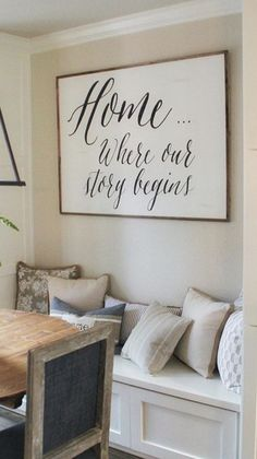 To put above the sitting nook in the kitchen