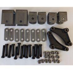 2K-3.5K Tandem Axle Hanger Kit - Double Eye Springs