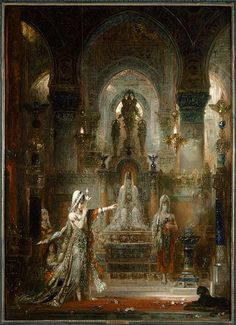 """Gustave Moreau: """"Salome Dancing before Herod"""", 1876, Oil on canvas, Current location: Armand Hammer Museum of Art, Los Angeles, California, USA."""