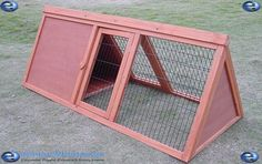 A frame rabbit hutch