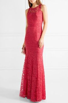 look for 2dc8e 4167d Marchesa Notte - Tulle-paneled metallic guipure lace gown