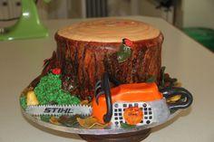 Stihl chainsaw cake idea.