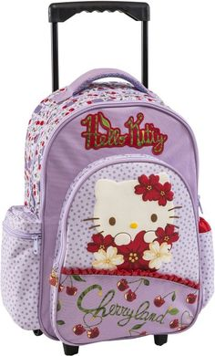 dc67e6bf1f4 Hello Kitty Cherry Land Σακίδιο Trolley-Λιλά (169253) | Moustakastoys.gr