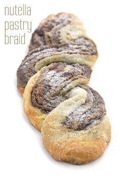 Low Carb Keto Nutella Pastry Braid Recipe. A delicious holiday brunch recipe! THM Banting LCHF Atkins. via @dreamaboutfood