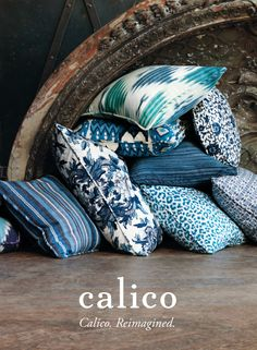#CalicoCatalog; love the patterns in these pillows!!