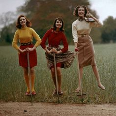 They were always quick to jump on fashion trends :) #vintage #fashion #1960s #fall