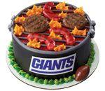 NFL NY Giants Grill Cake