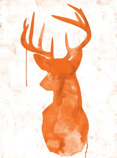 Urban Road - Oh Deer orange  #deer #canvas #art #urbanroad #affordable  www.urbanroad.com.au