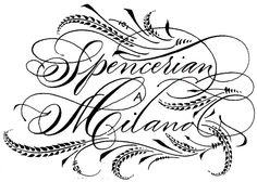 Spencerian in Milan. 15/16/17 february 2013 by Barbara Calzolari, via Flickr