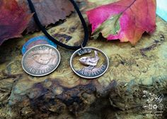 Wow, can't even imagine getting the saw in there, lovely - http://www.hairygrowler.co.uk Hand cut Jenny Wren Farthing coin pendant necklace made in the Hg workshop