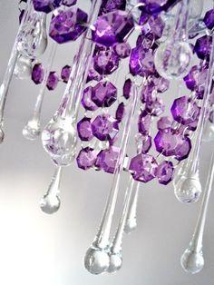 purple chandelier - Bing Images