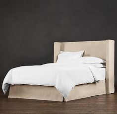 """BELGIAN SLIPCOVERED SHELTER 58"""" HEADBOARD WITH BED SKIRT  special $675 - $1350"""