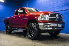 2012 Dodge Ram 1500 SLT 4x4 truck with custom rims and tires!