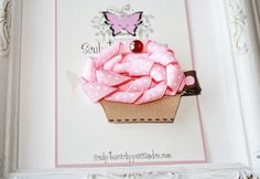 Cupcake Bow. Cupcake Ribbon Sculpture Clip. 1st Birthday Bow. Free Ship Promo via Etsy